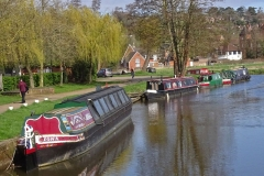 'Narrow Boats' by Mike Thurner